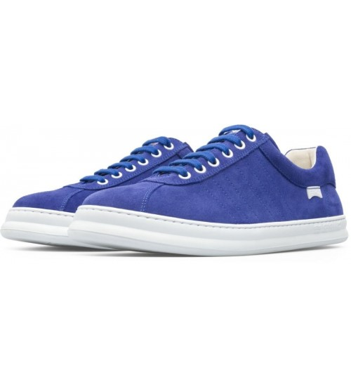 Camper Runner Four Blue White Mens Suede Trainers Shoes