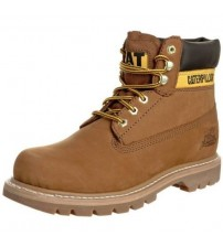 Caterpillar Colorado Beige Mens Leather Shoes Boots