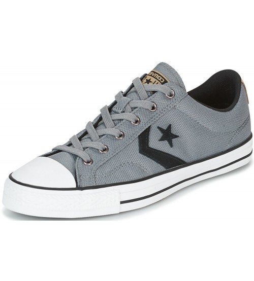 abb2b78008ef07 Converse Star Player Ox Grey Black Mens Trainer