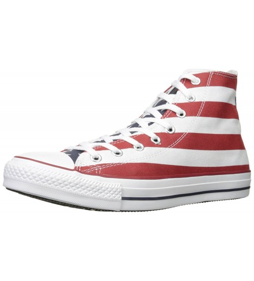 Converse Chuck Taylor All Star Stars & Bars Hi Trainers Boots