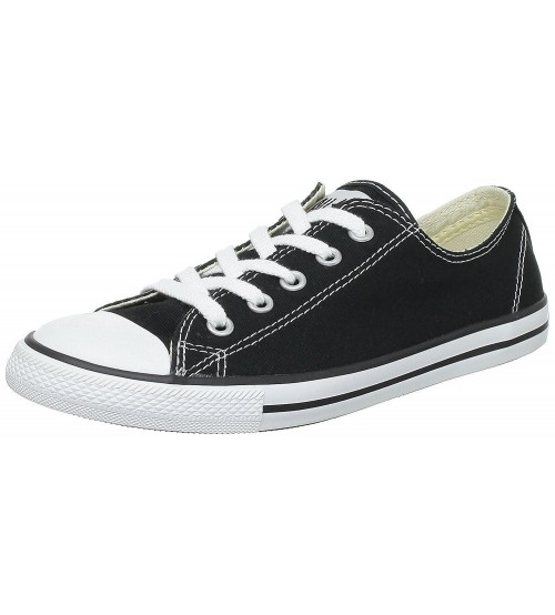 0799dc26370 Converse Chuck Taylor All Star Dainty Ox Black White Womens Trainers