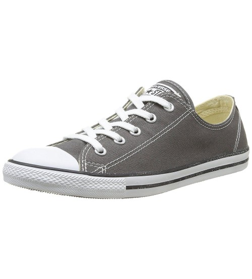 d9f2385c4d6c Converse Chuck Taylor All Star Dainty Ox Charcoal White Womens Trainers