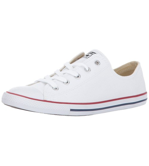 7ad1368ef03e Converse Chuck Taylor All Star Dainty Ox White Womens Trainers