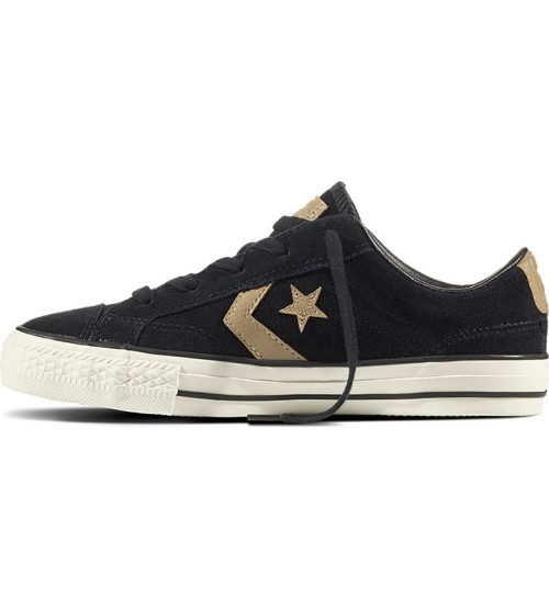 Converse Star Player Ox Black Khaki Mens SuedeTrainer