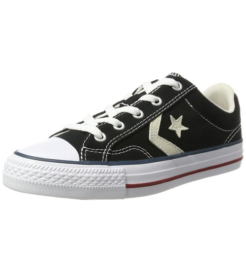 Converse Star Player Ox Black White Mens Canvas Trainers