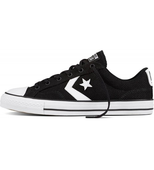 Converse Star Player Ox Black White Mens Mesh Trainers