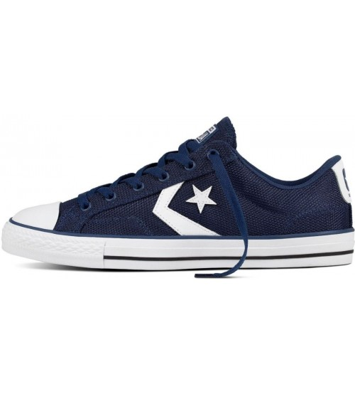 57e8bfdef0367f Converse Star Player Ox Navy White Unisex Mesh Trainers