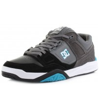 DC Stag 2 Grey Black Leather Mens Skate Trainers Shoes