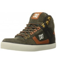 DC Spartan High WC WNT Olive Tan Suede Mens Skate Trainers Boots