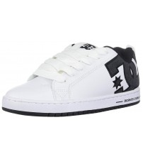 DC Court Graffik SE White Grey Mens Leather Skate Trainers