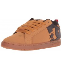 DC Court Graffik SE Wheat Brown Mens Leather Skate Trainers