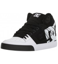 DC Pure WC SP Black White Mens Leather High Top Trainers