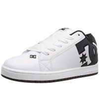 DC Court Graffik SE White Smooth Leather Mens Skate Trainers