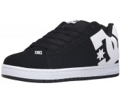 DC Court Graffik M Black White Suede Mens Skate Trainers Shoes