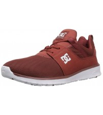 DC Heathrow Maroon White Mens Mesh Trainers Shoes