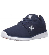DC Heathrow Navy White Mens Mesh Trainers Shoes