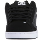 DC Net SE Black White Mens Suede Skate Trainers Shoes