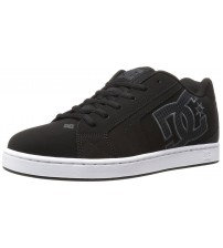 DC Net SE Black Grey White Suede Mens Skate Trainers Shoes