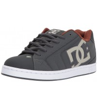 DC Net Grey White Mens Suede Skate Trainers