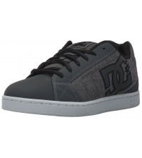DC Net SE Grey White Mens Suede Skate Trainers Shoes