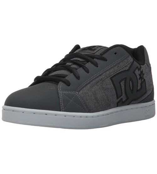 3c7bfe4b93 DC Net SE Grey White Mens Suede Skate Trainers Shoes