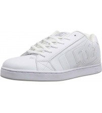 DC Net SE White White Mens Leather Skate Trainers