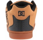 DC Net Tan Black Mens Leather Skate Trainers Shoes
