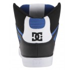 DC Pure High Top WC Black Blue White Mens Leather Trainers