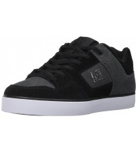 DC Pure SE Charcoal White Mens Suede Skate Trainers
