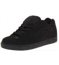 DC Net Black Leather Men Skate Trainers