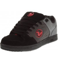 DVS Discord Grey Red Black Leather Mens Skate Trainers