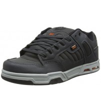 DVS Enduro Heir Grey Orange Leather Mens Skate Trainers Shoes