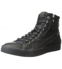 Diesel D Velows D String Plus Black Mens Leather Hi Trainers