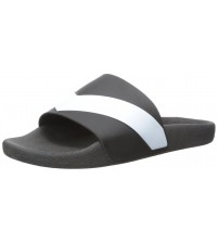 Diesel A-Lohaa Sa-Marl Black White Mens Beach Flip Flops Shoes