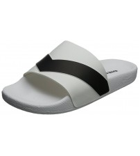 Diesel A-Lohaa Sa-Marl White Black Mens Beach Flip Flops Shoes