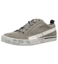 Diesel D Velows Low Grey White Mens Suede Trainers