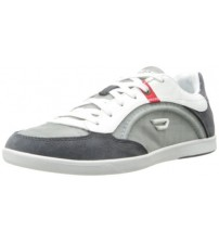 Diesel Eastcop Starch Grey White Red Mens Leather Trainers Shoes Shoes