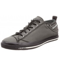 Diesel Expsoure Low I Grey Black Mens Trainers Shoes