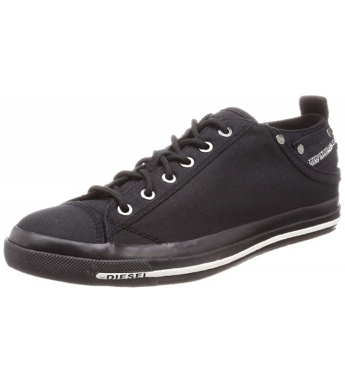 Diesel Expsoure Low I Pirate Black Mens Trainers Shoes