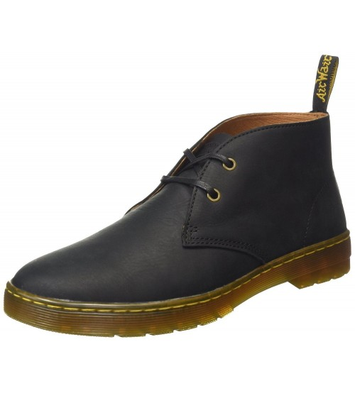 Dr Martens Cabrillo Black Mens 2 eyelet Leather Boots