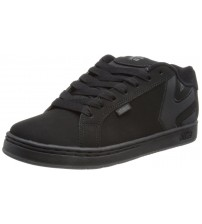 Etnies Fader Black Grey Men Suede Skate Trainers