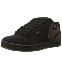 Etnies Fader Black Gum Silver Suede Mens Skate Trainers Shoes