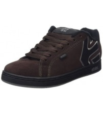 Etnies Fader Brown Grey Black Suede Mens Skate Trainers Shoes
