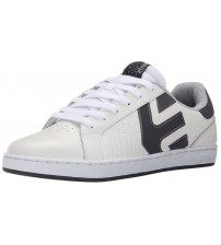 Etnies Fader LS White Grey Leather Mens Skate Trainers Shoes