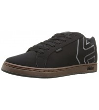 Etnies Fader Black Grey Gum Men Leather Skate Trainers