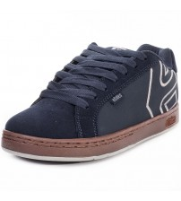 Etnies Fader Navy Grey Gum Mens Suede Skate Trainers Shoes