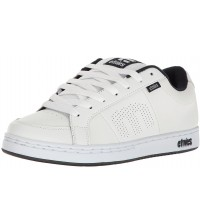 Etnies Kingpin White Navy Leather Skate Trainers Shoes