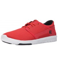 Etnies Scout Red Black White Gum Mesh Mens Trainers