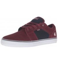 Etnies Barge LS Red Navy White Mens Suede Trainers