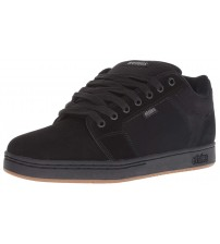 Etnies Barge XL Black Mens Leather Skate Trainers